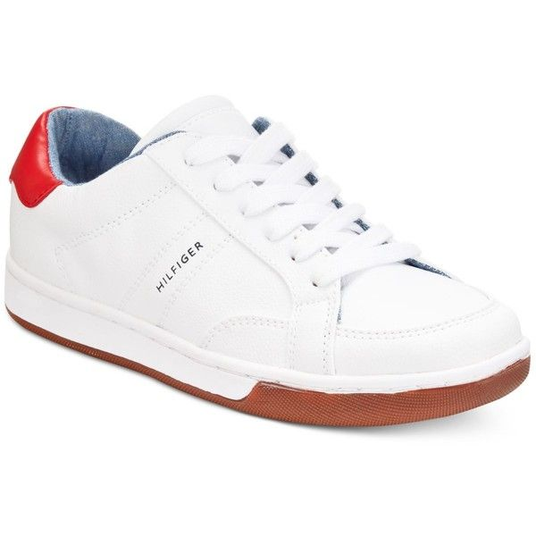 Tommy Hilfiger Phina Sneakers ($69) ❤ liked on Polyvore featuring shoes, sneakers, white, white sneakers, white shoes, tommy hilfiger shoes, white trainers and tommy hilfiger footwear