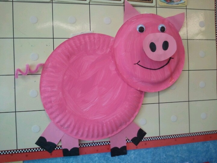 Paper Plate Pig...Great for National Pig Day, March 1st!!