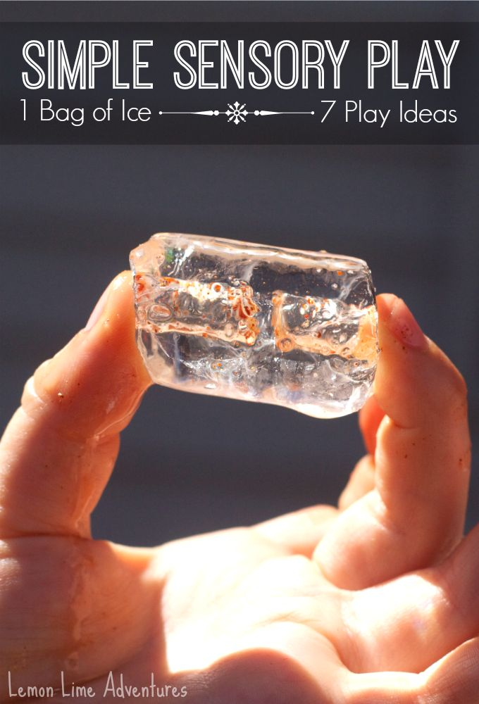 Simple Sensory Play with Ice   7 Play Ideas with ONLY 1 Bag of ICE! Great for a HOT DAY!