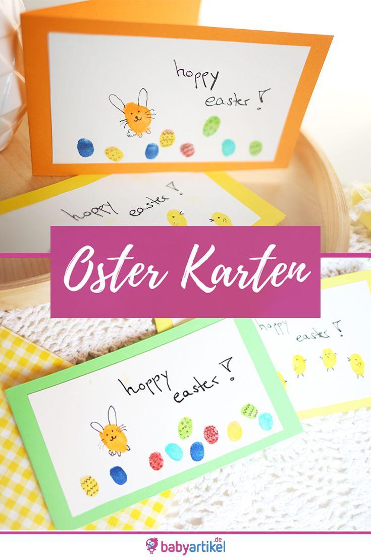 DIY: Fingerprint Easily make Easter cards with children