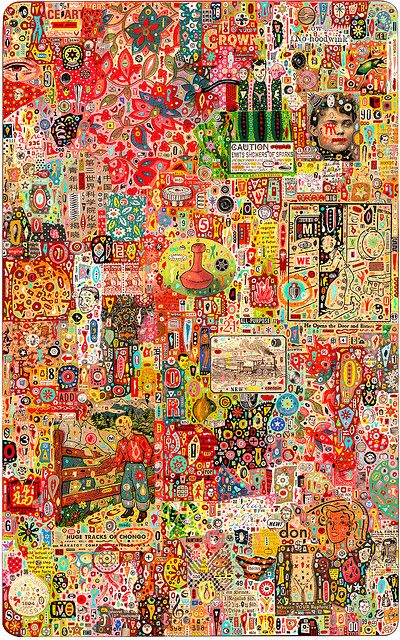 """Colin Johnson  11""""W x 17.5""""H, 2007, Mixed Media On Wood - http://colinjohnsonillustration.com/"""
