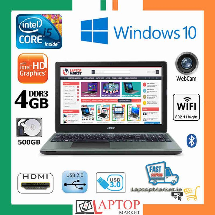 "Like New 15.6"" Acer Aspire E1 V5WE2 Intel i5 4GB RAM 500GB HDD Webcam"