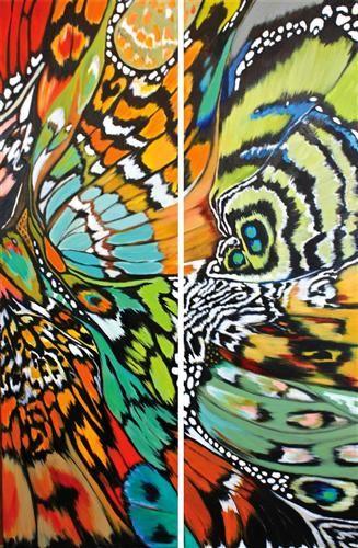 Mariposa XVl by DL Watson   acrylic painting   Ugallery Online Art Gallery