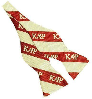 Kappa Alpha Psi Greek Letters Crimson Cream 2.5 Silk Self-tie Bow Tie
