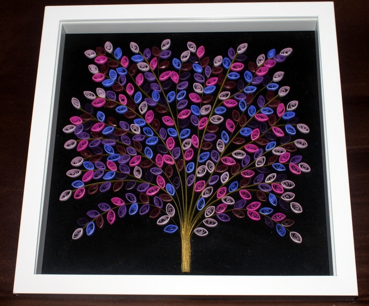Quilled Tree in a Frame