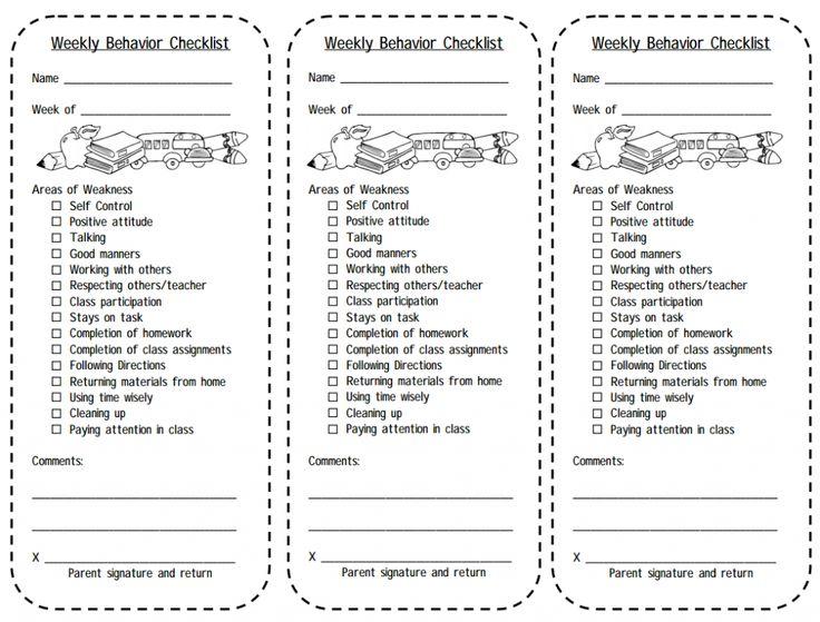 ... Plan, Behavior Charts, Behavior Checklist, Behavior Management, Weekly