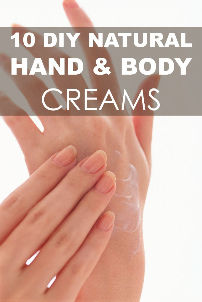 Make your own hand & body cream to take care of yourself.