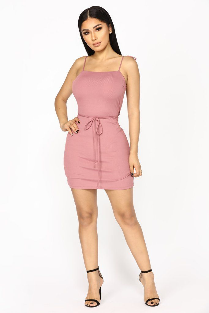dbc6020422 Roped In Ribbed Dress - Mauve in 2019