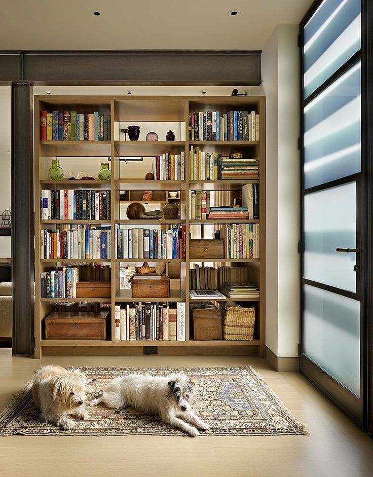 Installing Bookshelves Open On Both Sides Is A Great Way To Create An  Organic Partition In A Small Apartment ( For Example To Separate The  Sleeping Area).