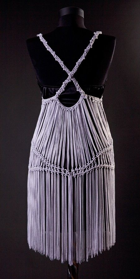 Macrame Clothing | uniquastudio | Dancing Queen Macrame knitted dress | Online Store ...