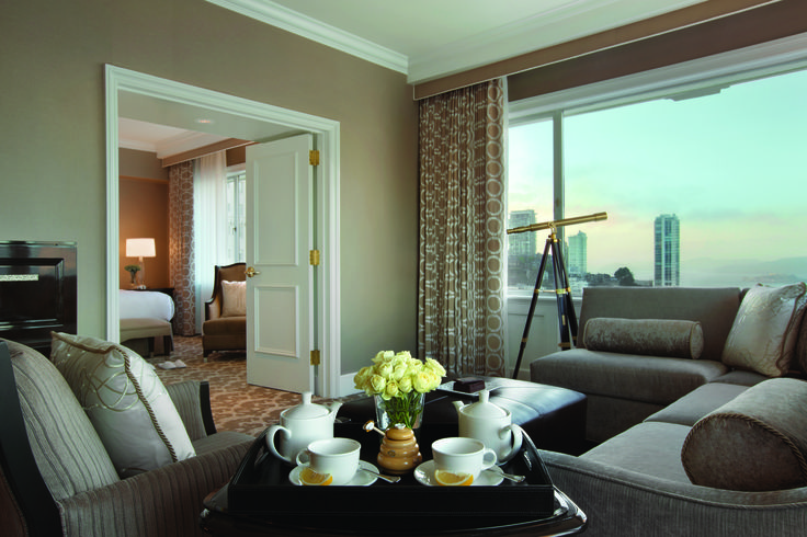 Beautiful suites at the Fairmont San Francisco #Views #Luxury #Travel #SF