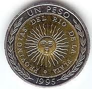 Economy: In Argentina, they use the Argentine peso this equals 8.47 us dollars. On the coin above there's a sun to represent the flag and on the other side there is the coat of arms.