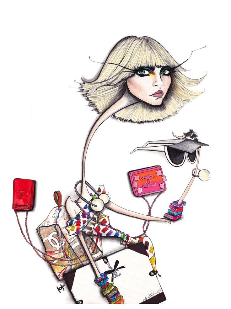 Illustration.Files: Chanel S/S 2014 by Jamie Lee Reardin Part 2