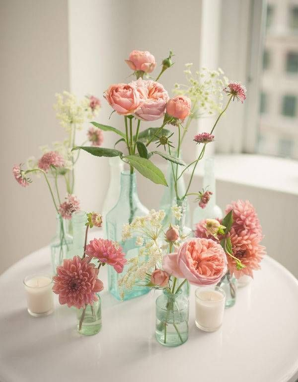 10 Mother S Day Flower Centerpiece Ideas Domino Simple Wedding Flowers Diy Wedding Flowers Wedding Flowers