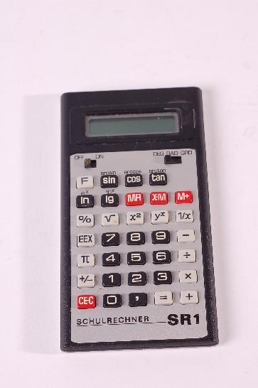 First calculator allowed at school. It was very expensive but I got mine from west Germany for 14 D-Mark. In East Germany you paid around 200 East-Mark.