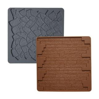 WILTON SILICONE MOULD - STONE WOOD MAT SET