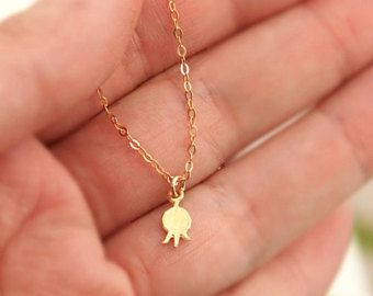 Pomegranate necklace , charm  necklace, tiny pendant, small pendant, fertility , modern, simple necklace, everyday jewelry