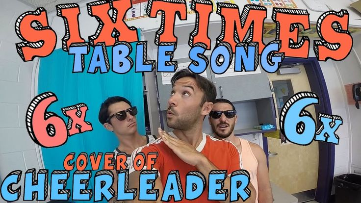 Mr. DeMaio and friends cover the summer hit, Cheerleader by OMI, in this fun multiplication video that can be used to help you memorize your six times table!...