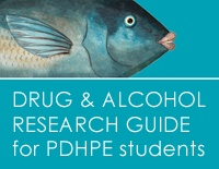 Drug and alcohol PDHPE research guide - This Research Guide guide takes you to key eresources, books and information about drugs and alcohol for PDHPE students: http://guides.sl.nsw.gov.au/drug-and-alcohol-information-pdhpe