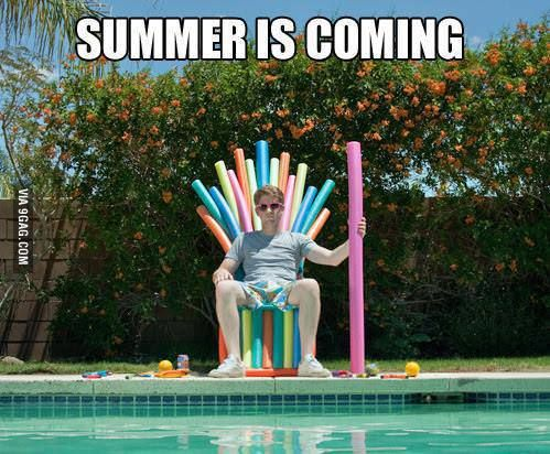 Game Of Thrones LOLz. Note to self for summer: make a throne with pool noodles, brilliant...