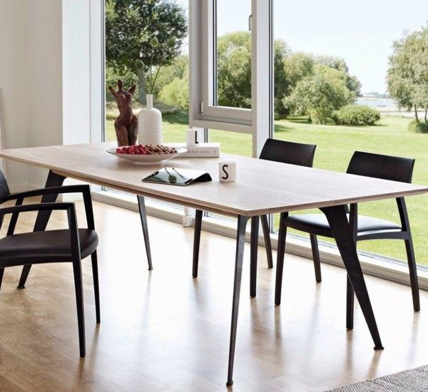 Clipper Table is designed by Nissen & Gehl for Naver Collection, made of solid wood with legs in burnished steel.  Clipper Table has a simple and functional design.
