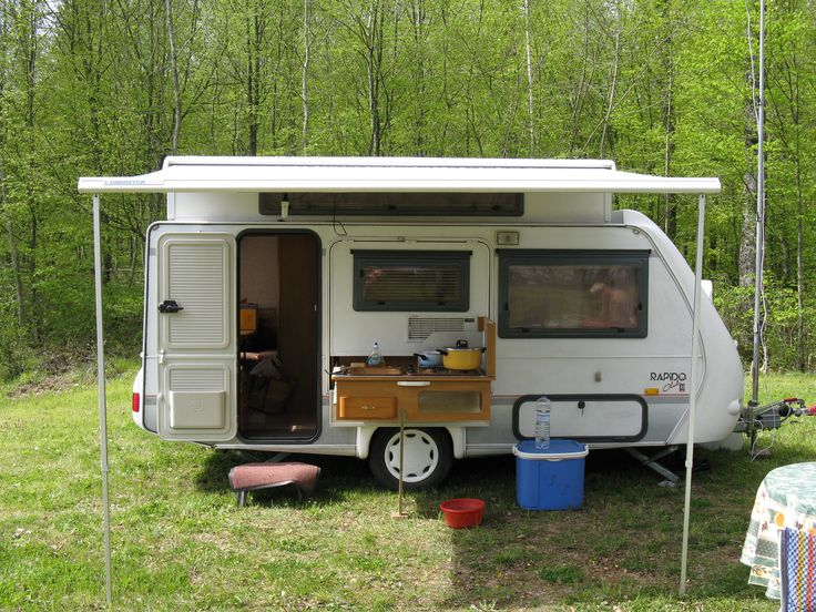 Small Camper With Outside Kitchen