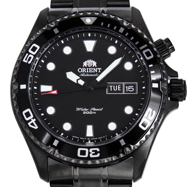 Chronograph-Divers.com - Orient Mako FEM65007B EM65007B Black Dial Automatic Watch, $166.00 (http://www.chronograph-divers.com/em65007b/)
