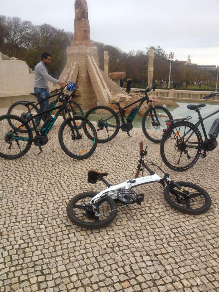 Lisbon E-Bike Tour. Parque Eduardo VII Viewpoint.