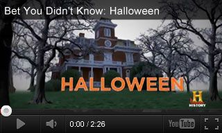Video: Bet You Didn't Know: Halloween Nice, short clip on explaining the origins of Halloween - great 'brain teaser' worksheet beside the video to tie into customs from other countries.