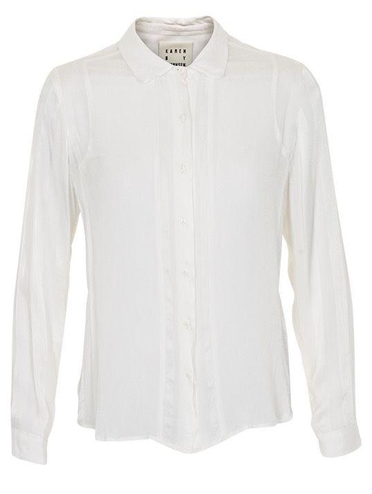 405 kr Karen By Simonsen, Abigail Shirt, Eggshell | Outlet online | Spar op til -80% | Designers & Friends