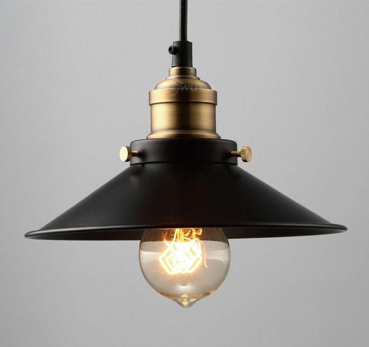 Vintage Industrial Modern Restaurant Pendant Ceiling Lights Lamp Edison Wall