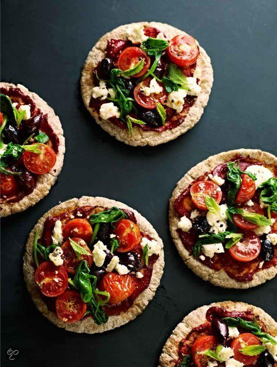 Griekse pita pizza - Eten als medicijn, Dale Pinnock #Snack #Healthy #Eatclean