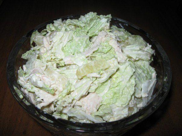 Салат из пекинской капусты, курицы и ананаса / Удивительная еда!