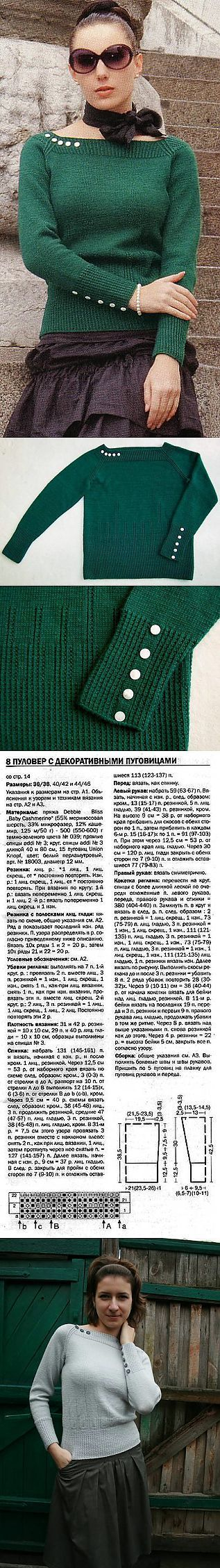 Изумрудный пуловер.