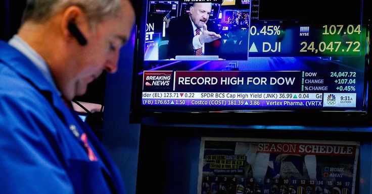 12-01-17 Stocks fell Friday on a report that Michael Flynn was directed by President Trump to talk to Russians.