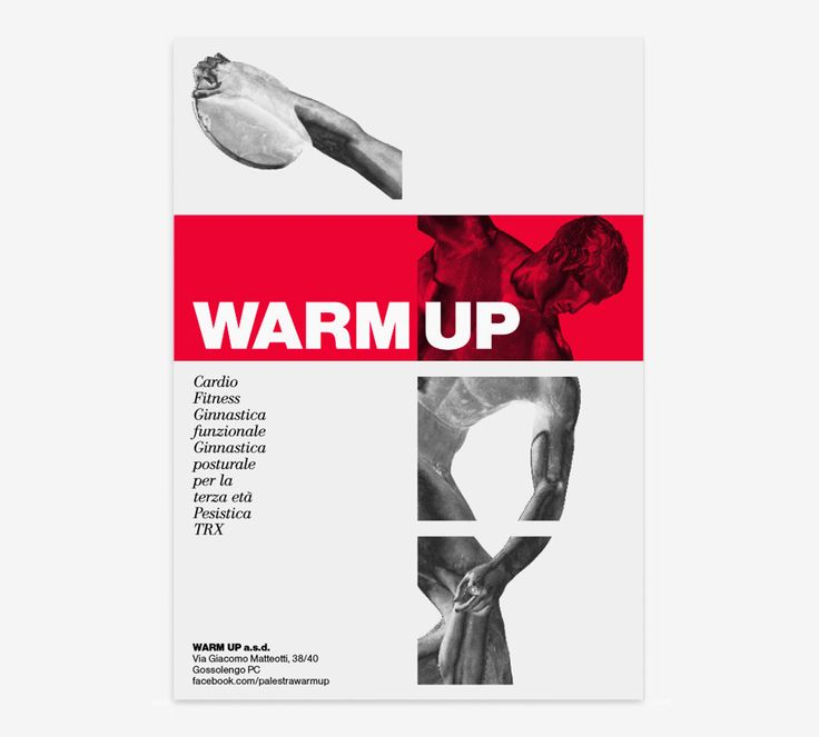 NICOLA MATTEO MUNARI DESIGN palestra warm up gym flyer poster