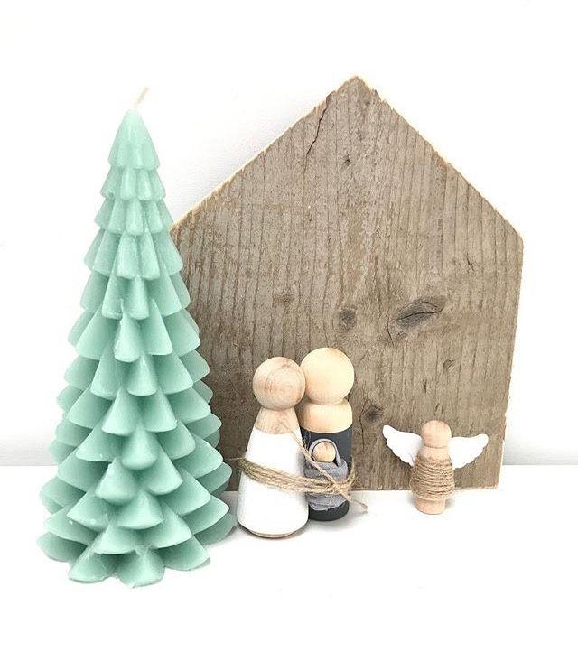 Houten (kerststal)poppen