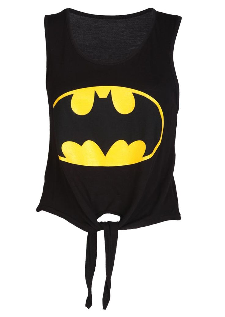 Batman Tie Front Top - Womens Clothing Sale, Womens Fashion, Cheap Clothes Online | Miss Rebel