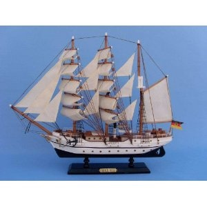 """Gorch Fock 20"""" - Gorch Fock - Model Ship Wood Replica - Not a Model Kit (Toy)  http://www.howtogetfaster.co.uk/jenks.php?p=B002YLKGTS  B002YLKGTS"""