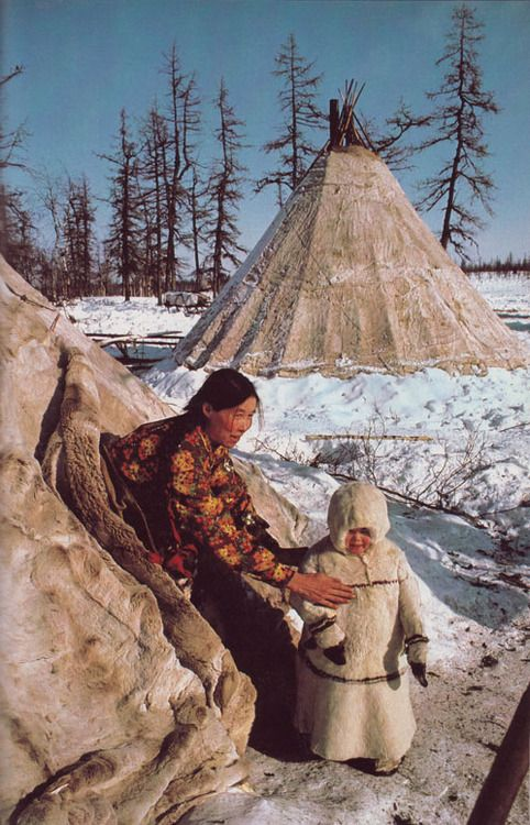 reindeer herders camp near Salekhard in the Soviet Arctic National Geographic February 1983  Dean Conger