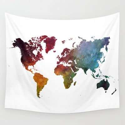 World+Map+Wall+Tapestry+by+Jbjart+-+$39.00