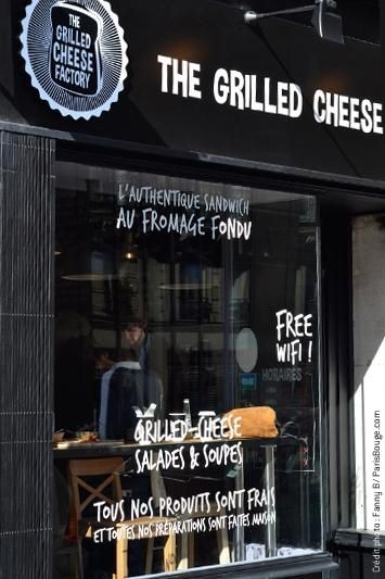 Grilled Cheese Factory restaurant in Paris - Authentic American grilled cheese sandwiches for those who are homesick.  ᘡղbᘠ