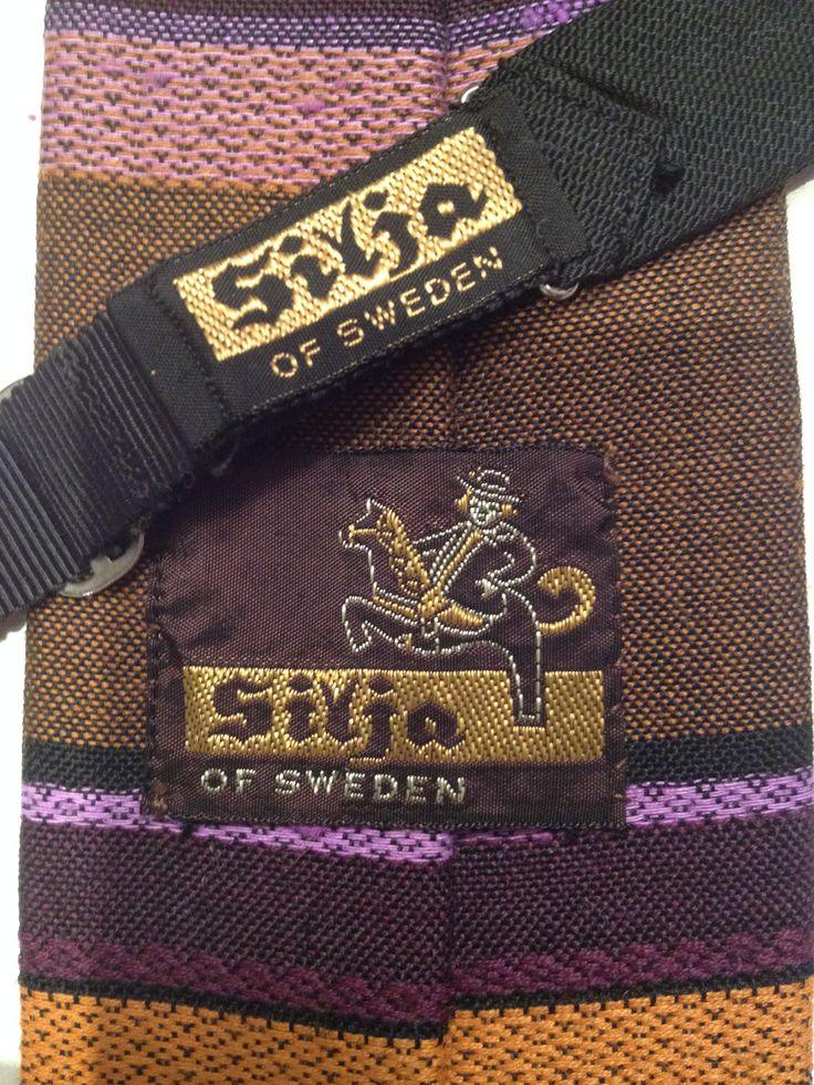 Silja of Sweden var stora på slipsar och flugor på 1960-talet.
