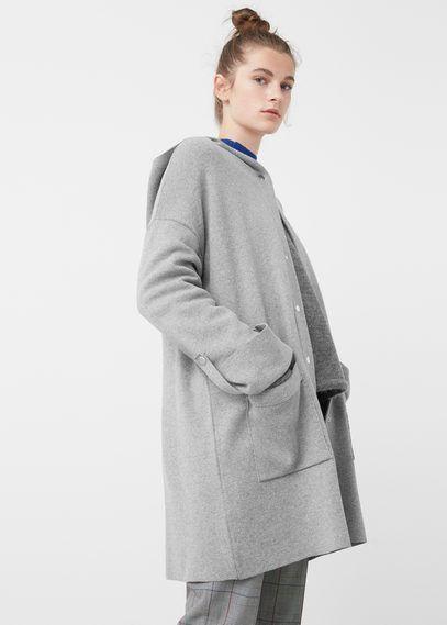 Mango Outlet Cotton-blend hooded jacket #RaincoatsForWomenLongSleeve