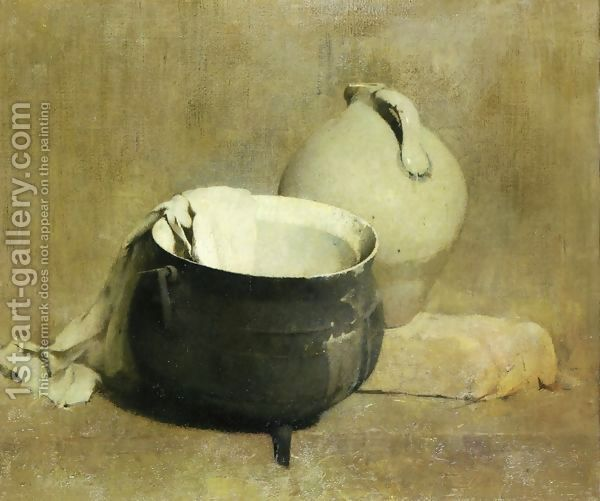Emil Carlsen:Still Life with Kettle and Jug