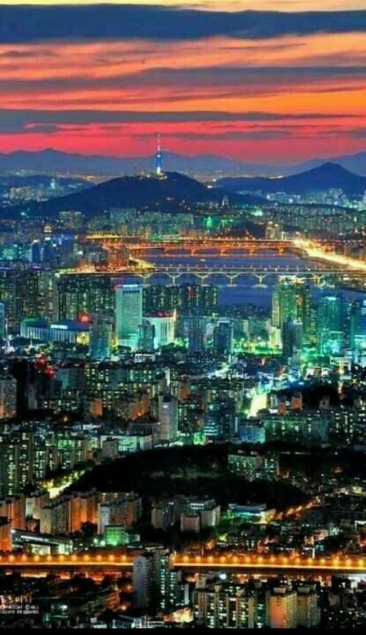 韓国ソウルの夜景