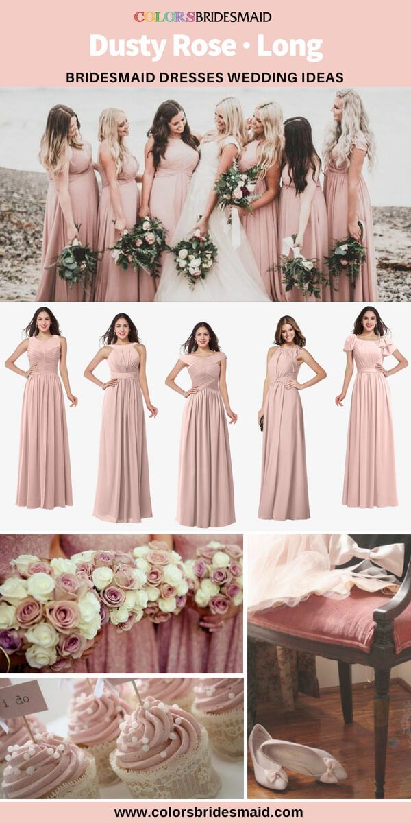 ad149724b6e 5 Most Beautiful Dusty Rose Long Bridesmaid Dresses Online