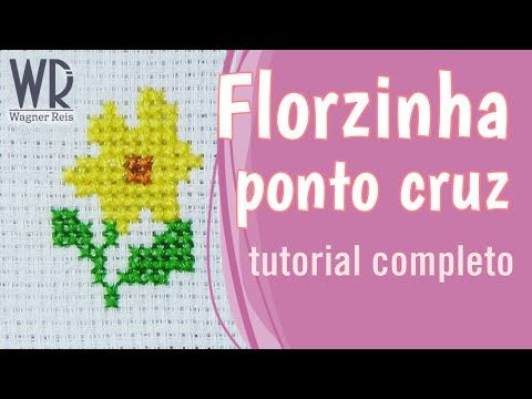 Como bordar uma florzinha em ponto cruz (Com avesso perfeito) - YouTube