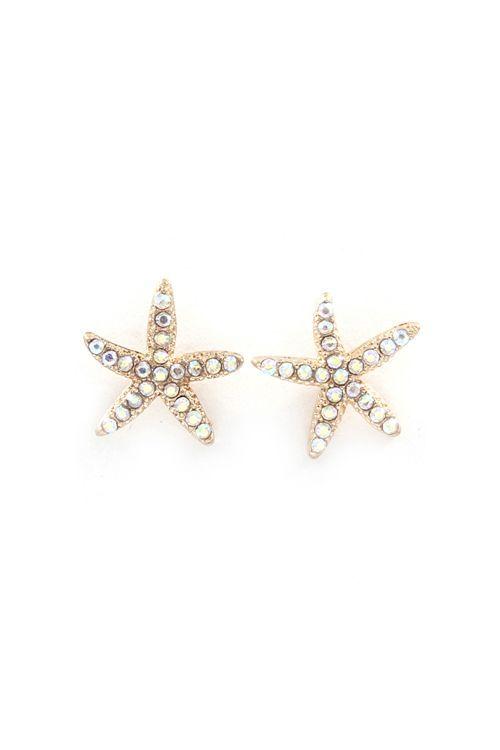 Iridescent Starfish Earrings