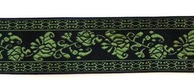 Bånd, 3 cm bred 510, Grønn (Klikk her for å velge størrelse, farge osv.) [Husflidsbutikken i Ski, A.Larsen husflid as]